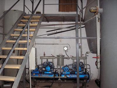 Compressor equipment of biogas plant in Lugovskoi Стадия Studhorse Farm, Kasakhstan
