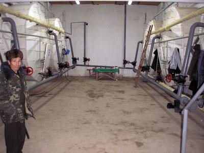 Operating room of biogas plant in Lugovskoi Стадия Studhorse Farm, Kasakhstan