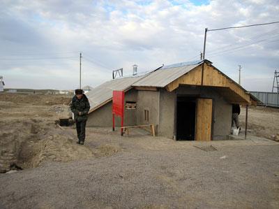 External view of biogas plant in Lugovskoi Стадия Studhorse Farm, Kasakhstan