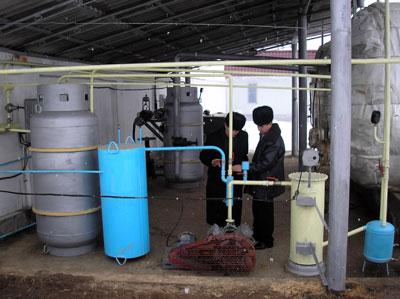 Equipment of the biogas plant of Milkagro LLC in Uzbekistan