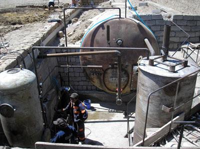 Монтаж биогазовой установки ЧП Арипжонова, Казахстан
