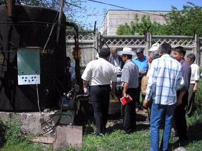 Семинар с демонстрацией биогазовой установки ОсОО Орион, Кыргызстан