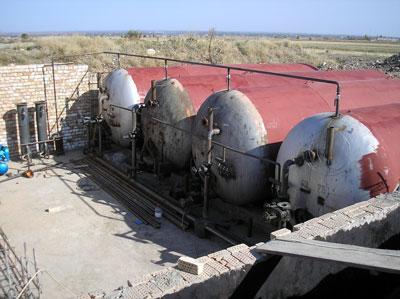 Installation of biogas plant of Ak-Sarai Farm, Kyrgyzstan
