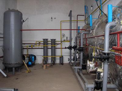 Operating room of biogas plant of Ak-Sarai Farm, Kyrgyzstan