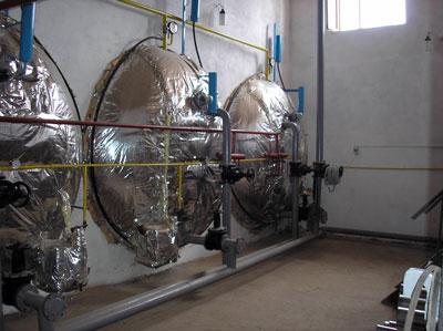 Digesters of biogas plant of Ak-Sarai Farm, Kyrgyzstan