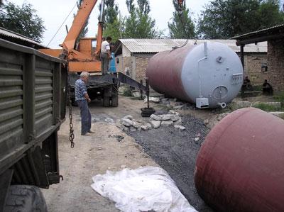 Installation of the biogas plant of Madina Farm, Kyrgyzstan