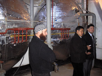 Operating room of the biogas plant of Madina Farm, Kyrgyzstan