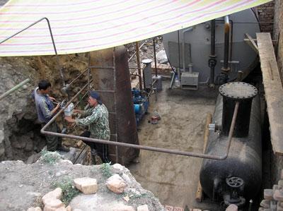 Installation of the biogas plant of Zarja Community, Kyrgyzstan