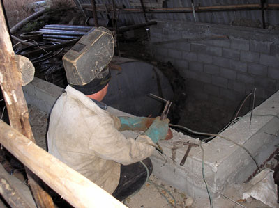 Installation of the biogas plant of Favorit Farm, Kyrgyzstan