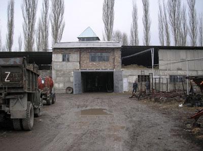 External view of biogas plant of  Farmer Association, Kyrgyzstan