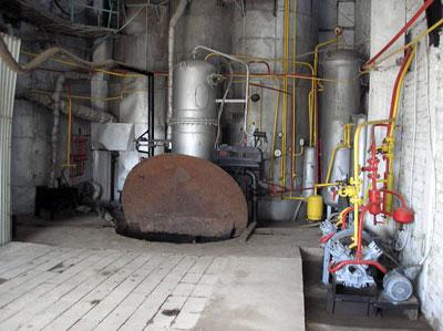 Operating room of biogas plant of  Farmer Association, Kyrgyzstan