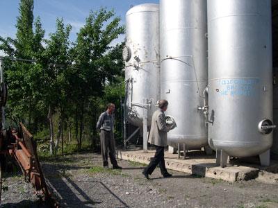Gasholders of biogas plant of  Farmer Association, Kyrgyzstan