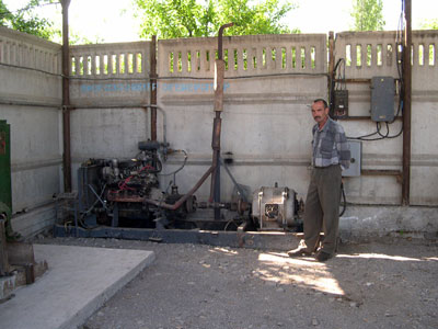 Electro generator of biogas plant of  Farmer Association, Kyrgyzstan