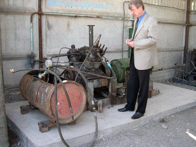 Gas station of biogas plant of  Farmer Association, Kyrgyzstan