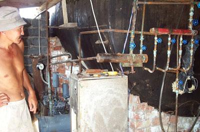 Операторская биогазовой установки КХ Нурданбек, Кыргызстан