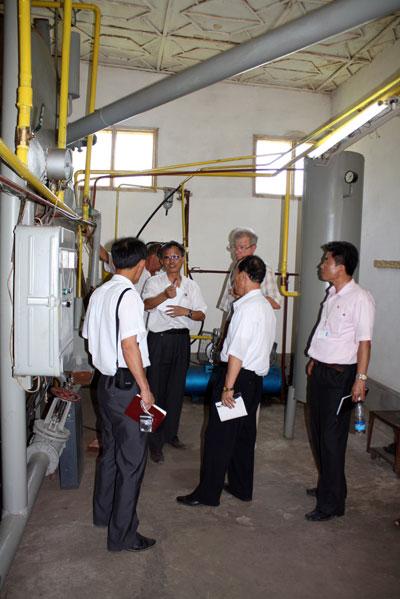 Visit of DPRK delegation of biogas plant in Tokmok, KR